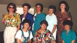 Top Row: Martha Faulkner, Claudia Hart, Carol Williams, Elaine Olsen, Kay Simmons,  Bottom Row:  Juanita Hoff, Irene Koc