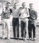 Left to Right:  Gary Riel, Alfred Fry, Danny Sutphin and David Butler - taken in the 9th grade