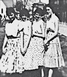 Left to Right:  Mary Lee Colby, Juanita Hoff, Bonita Hoff, Claudia Hart.  Taken at Chief Kamiakin Jr Hi in the 9th grade