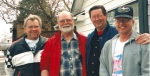 Gil Roberts, Mickey Martin, Bill Wiley, and Bob Shockley - taken at  Bob Shockley's house in Ritzville, Wa.