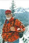 Mickey Martin - hunting in Crow Basin in 1995